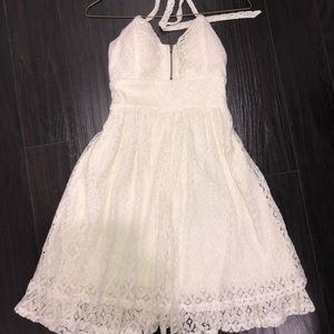 Dresses & Skirts - White lace halter dress worn once